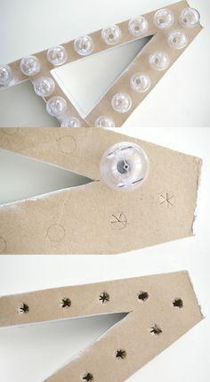 DIY Marquee Letter by Sugar & Cloth, via Grey Likes Nesting