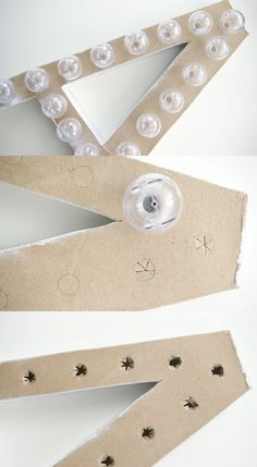 DIY Marquee Letter by Sugar & Cloth, via Grey Likes Nesting