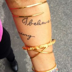 """I believe in the good things coming"" wrap around forearm tattoo @yogagirl"