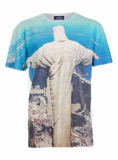 Oversize Rio Print T-Shirt