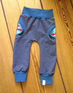 cozy pants in gr 80, aus tollem sommerweat und süßem fischjersey.