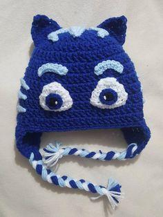 PJ Masks inspired Catboy crocheted hat