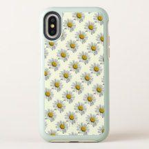 White Yellow Daisy Flowers OtterBox iPhone X Case