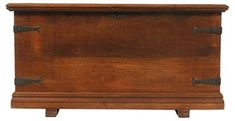 Blink Home Vintique - Century Oak Seaman's Chest Boys Den, Tripod Table Lamp, Trunks And Chests, Hope Chest, Solid Oak, 19th Century, Restoration, Iron, Home Decor