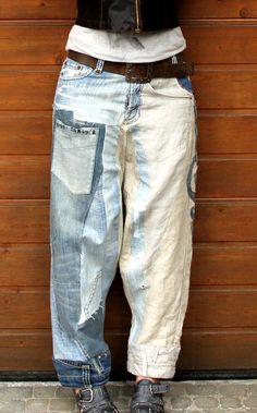 Jeans und Leinen