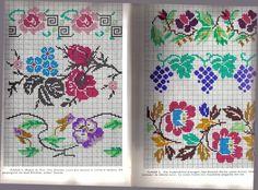*etnobiblioteca*: Culegere de cusături populare de Leogadia Ștefănucă Cross Stitch Floss, Simple Cross Stitch, Hand Embroidery, Projects To Try, Bullet Journal, Symbols, Traditional, Crochet, Floral