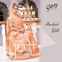 A perfecting gifting option! Tell us whom would you gift this? #RajputiPoshak #DesignerCollection #IndianAttire #ElegantPoshak #Bespoke #WeddingAttire #PerfectGift #Yuvti