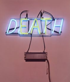 Bruce Naumen Eat/Death 1972 Neon tubing and clear glass tubing Neon Jungle, Petra Collins, Neon Words, Neon Nights, All Of The Lights, Neon Lighting, Conceptual Art, Light Art, Logo Nasa