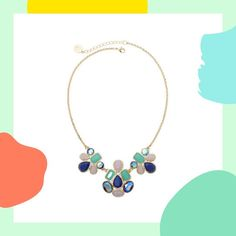 This multicolor stone necklace is perfect for a special occasion. #partner
