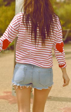 Heart elbow patches