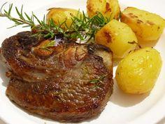 Le    ricette    di    Claudia  &   Andre : Punta di petto di scottona con patate, al forno