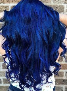 50 Blue Hair Color Ideas Thanks to the rainbow hair trend a growing number of women are dyeing their locks in fun bright hair colors Pastel pinks light vio. Bright Hair Colors, Hair Dye Colors, Hair Color Blue, Cool Hair Color, Blue Hair Dyes, Crazy Hair Colour, Rainbow Hair Colors, Pink Purple Blue Hair, Different Hair Colors