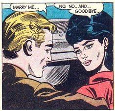 Vintage comics, taken out of context. Comic Books Art, Comic Art, Book Art, Bd Comics, Comics Girls, Arte Pop, Vintage Pop Art, Romance Comics, Comic Book Panels