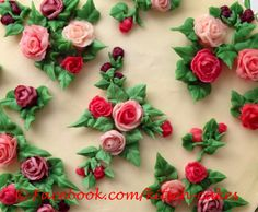 """Chintz"" a beautiful buttercream cake with hand piped buttercream roses by sarah@kitsch-cakes.com"