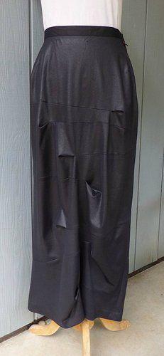 Nobu Nakano Japan Black Drape Avant Garde Skirt S | eBay