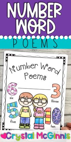 Kindergarten Poetry, Beginning Of Kindergarten, Kindergarten Reading Activities, Numbers Kindergarten, Preschool Learning Activities, Preschool Themes, Kindergarten Classroom, Literacy, Number Words Chart