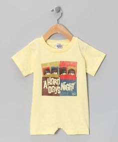 Take a look at this Banana 'A Hard Day's Night' Romper - Infant by Don't Stop the Music: Kids' Apparel on @zulily today!