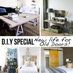 diy doors. New life for old doors