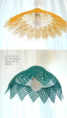 Para artesãs habilidosas: Luminárias de Crochê
