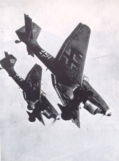 """Dive bombing"", by Stuka whistling death  when they dived the stuka would whistle because of two small propellers on the stalks of the wheels"
