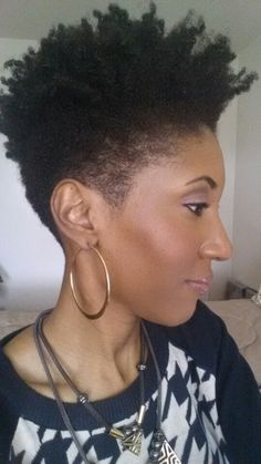 Natural tapered hair cut cleaned up on sides and back. Natural Hair Short Cuts, Tapered Natural Hair, Be Natural, Short Hair Cuts, Natural Hair Styles, Tapered Twa, Natural Makeup, Natural Afro Hairstyles, Natural Hair Inspiration