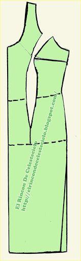 El Rincon De Celestecielo: Patrón vestido corte princesa o francés hasta la cadera y costura al corte