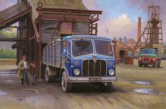 Lorry Painting - Aec Mercury Tippe