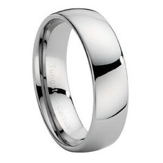 Strong and durable, this wide domed ring is one of our most popular men's tungsten wedding bands. Made from cobalt-free tungsten carbide, the face is slightly domed and the inside edges are rounded for a superior fit. This wide tungsten band is an excellent choice for the man who likes a more traditional look. Plus, it comes with our Lifetime Guarantee! $48.95