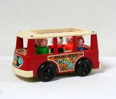 Mini bus Fisher Price, 1969 lamerelipopette.com