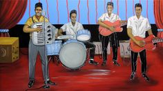 """""""Clifton Chenier and His Band""""  by Herb Roe  based on an original by self taught artist Wesley Davis. The original was done in the early 1960s."""