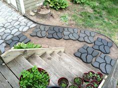 Cobblestone Mold. DIY Concrete backyard for under $250.00