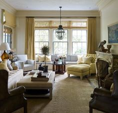Room of the Day ~ window seat provides comfort in this serene Steven Gambrel room 7.1.2014