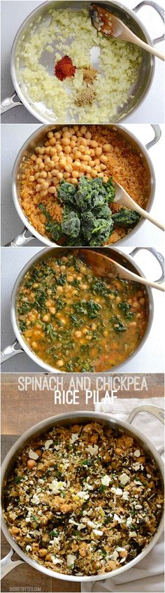 A hearty side or vegetarian main dish infused with herbs and bright pops of lemon and feta. Cooks in one skillet for easy cleanup! Step by step photos. - BudgetBytes.com  #HealthyEating #CleanEating  #ShermanFinancialGroup