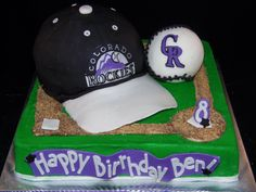 Colorado Rockies Baseball Cake