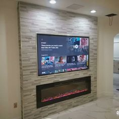 Millner Recessed Wall Mounted Electric Fireplace – Anna J. Fireplace Feature Wall, Living Room Decor Fireplace, Fireplace Tv Wall, Wall Mount Electric Fireplace, Fireplace Remodel, Modern Fireplace, Fireplace Design, Basement Fireplace, Living Room Electric Fireplace