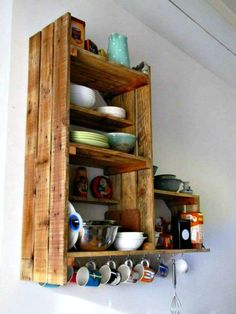How To Build Pallet Kitchen Cabinet - 30 Pallet Ideas to Organize Your Home Storage - DIY & Crafts