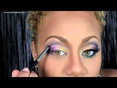 Mardi Gras And Aoedes Hands Inspired  Makeup from Beat Face Honey! One of my absolute fav YouTube makeup artist.