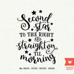Second Star to the Right SVG Peter Pan Cutting File by SVGfarm
