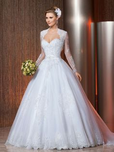 Cheap wedding gowns, Buy Quality lace wedding dress directly from China dress bride Suppliers: Bridal Ball Gown Long Sleeve Lace Wedding Dresses Bride vestido de noiva robe de mariage mariee Wedding Gowns gelinlik Ivory Lace Wedding Dress, White Wedding Dresses, Bridal Lace, Cheap Wedding Dress, Bridal Dresses, Wedding Gowns, 2017 Wedding, White Bridal, Wedding Trends