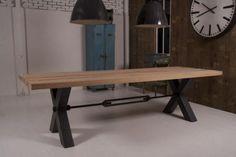 "Marktplaats.nl - Stoere industriele tafel ""Kansas"" eiken - Tafels | Eettafels"