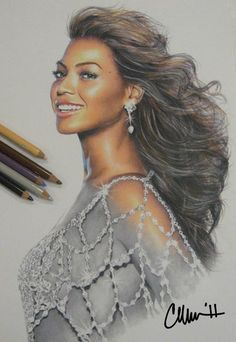 'Beyonce' by Live4ArtInLA (United States) | Amazing drawing of Beyonce <3