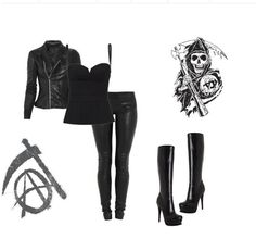 <3 < Sons of Anarchy style Heck yea!! Jax would love this outfit!! On me, not whatsherface. LOL!!