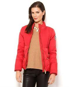 Versace Jeans Zipper Puffer Jacket 100% Nylon Womens