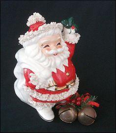 Vintage Santa Bank Figurine 50's era Santa #GotVintage #GVS #vintageSanta #Santa #santabank