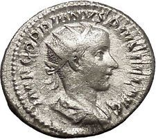 GORDIAN III RARE Authentic Ancient Silver Roman Coin ROMA i53155