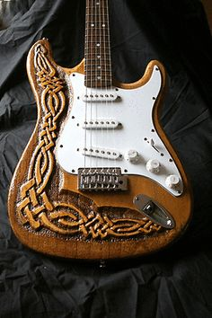 Custom Hand-carved Electric Guitar | eBay