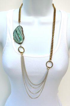 ELizabeth Stone agate necklace.