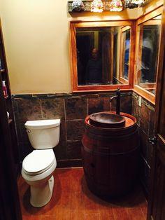Whiskey bathroom I done