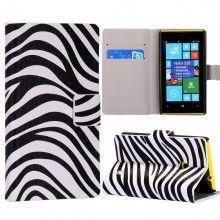 Funda Lumia 520 - Flip Libro Zebra  $ 75,81