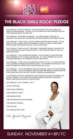 The Black Girls Rock! Pledge